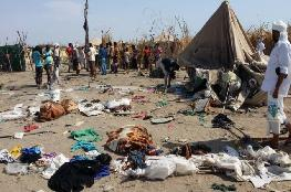 Four children were injured in the Houthi bombardment of the displaced camp in Al Khokha